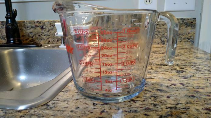 measuring cup smoked turkey brine