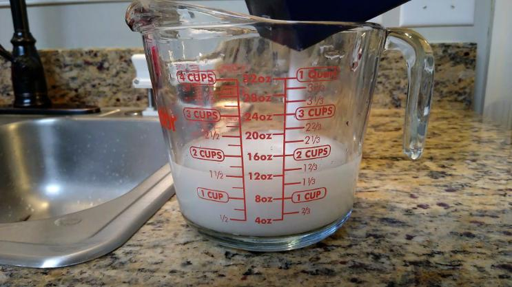 4 cup measuring cup with salt added