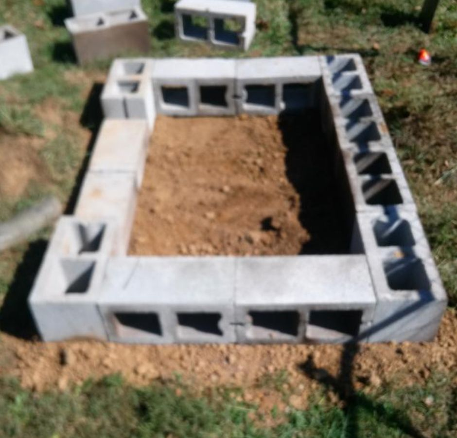 How to Build a Cinder Block Smoker Completed Base