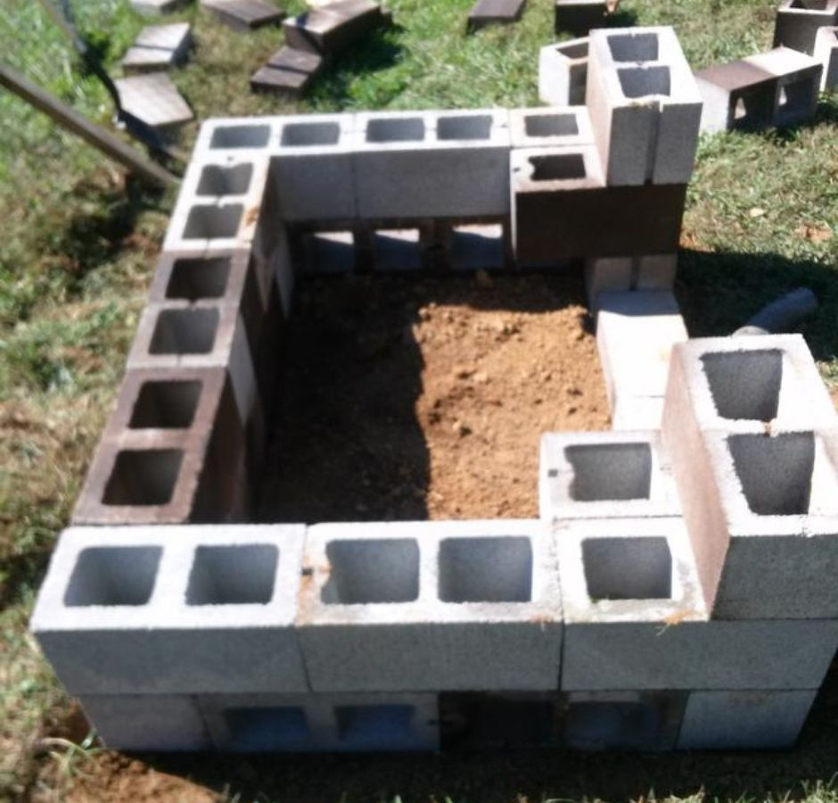 How to Build a Cinder Block Smoker second level opening
