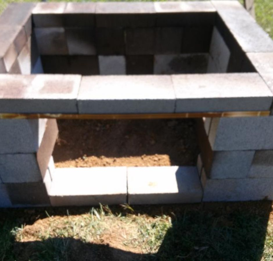 How to Build a Cinder Block Smoker Cooking Base Level Completed
