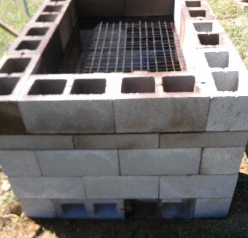 How to Build a Cinder Block Smoker Cooking grate on final